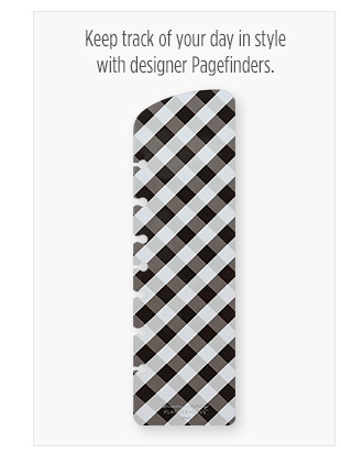 Track your day in style with designer Pagefinders
