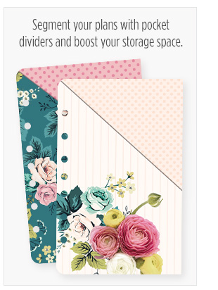 Segment your plans with pocket dividers and boost your storage space
